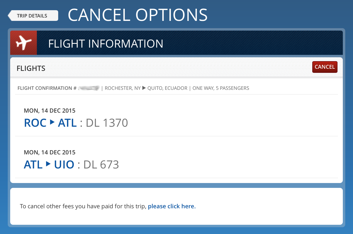 class action united airlines charged online reservation change fees