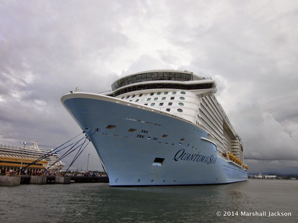 Royal Caribbean's Quantum of the Seas along side in San Juan, Puerto Rico