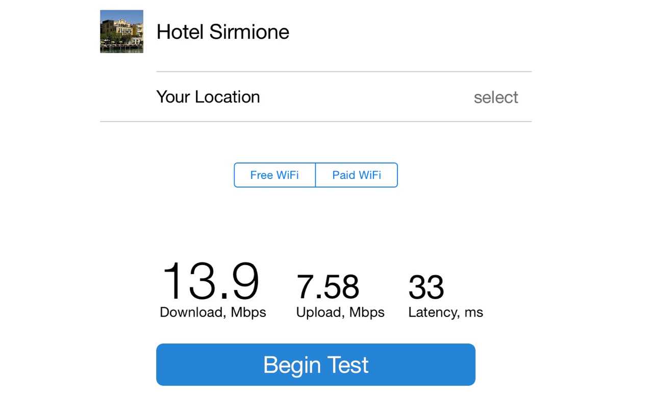 Sirmione Wifi Test