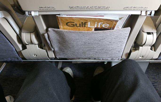 Gulf Air A320-200 Seat Back