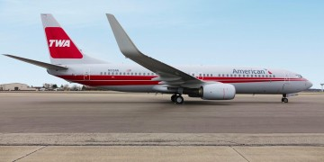 TWA Heritage Jet (image courtesy: American Airlines)
