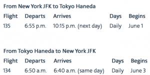 American Airlines New York - Tokyo/Haneda