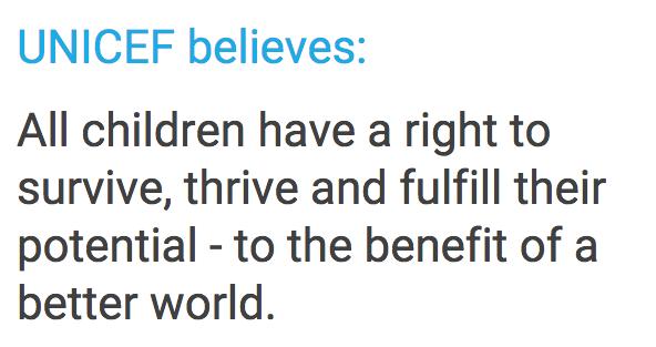 M Unicef beliefs