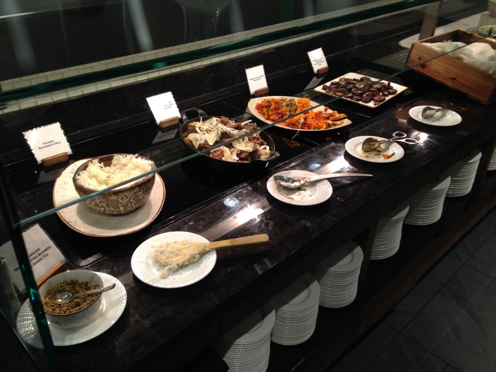 Food Spread at the Centurion Lounge SFO