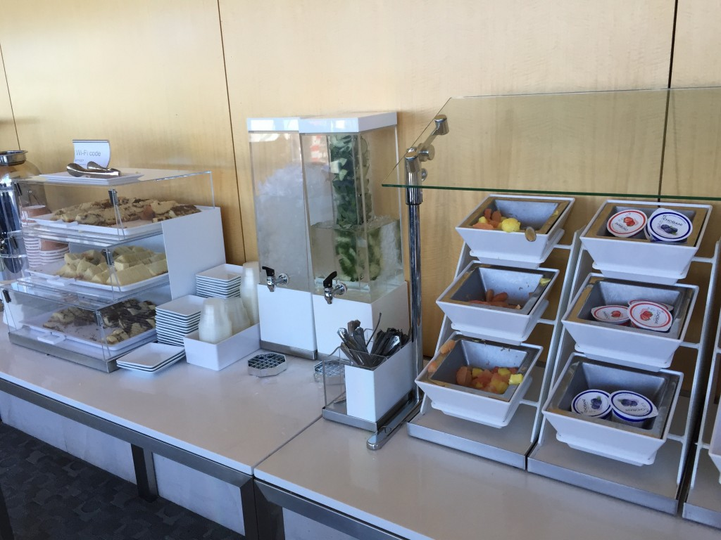 Breakfast Options at the AA Admirals Club LAX - Food is also available for purchase