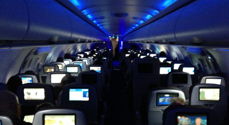 Flight Attendants will turn down the lights, but the rest is up to you!