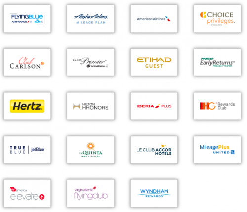 Here are all the travel partners. In theory.