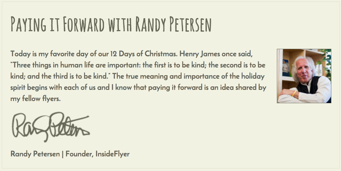 M Giving Back Randy Petersen