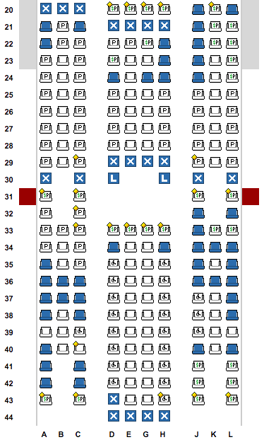 For instance, if you were in 34J, I'd strongly consider grabbing a seat like 40H, since it's unlikely the rest of the plane will fill up in the next 24 hours (and others might snipe those empty rows!) Source: Expertflyer.com