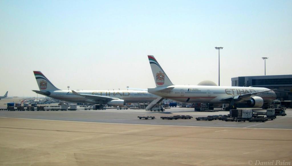 Etihad Aircraft in Abu Dhabi