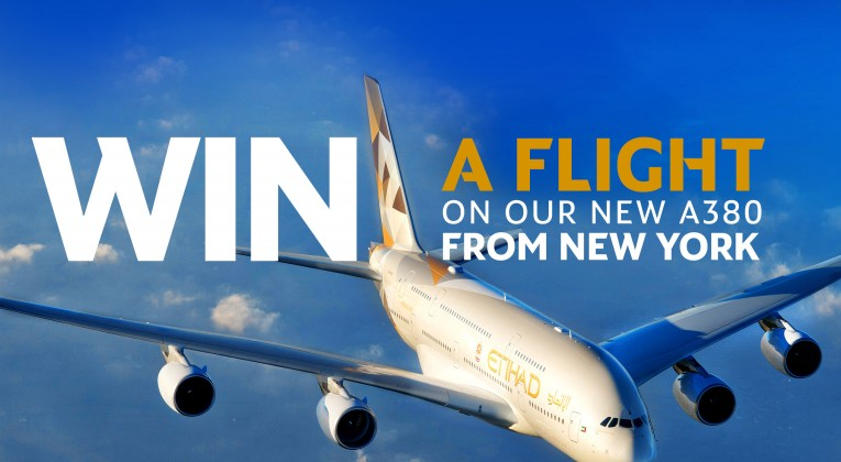 Etihad Airways tickets for two Airbus A380 contest