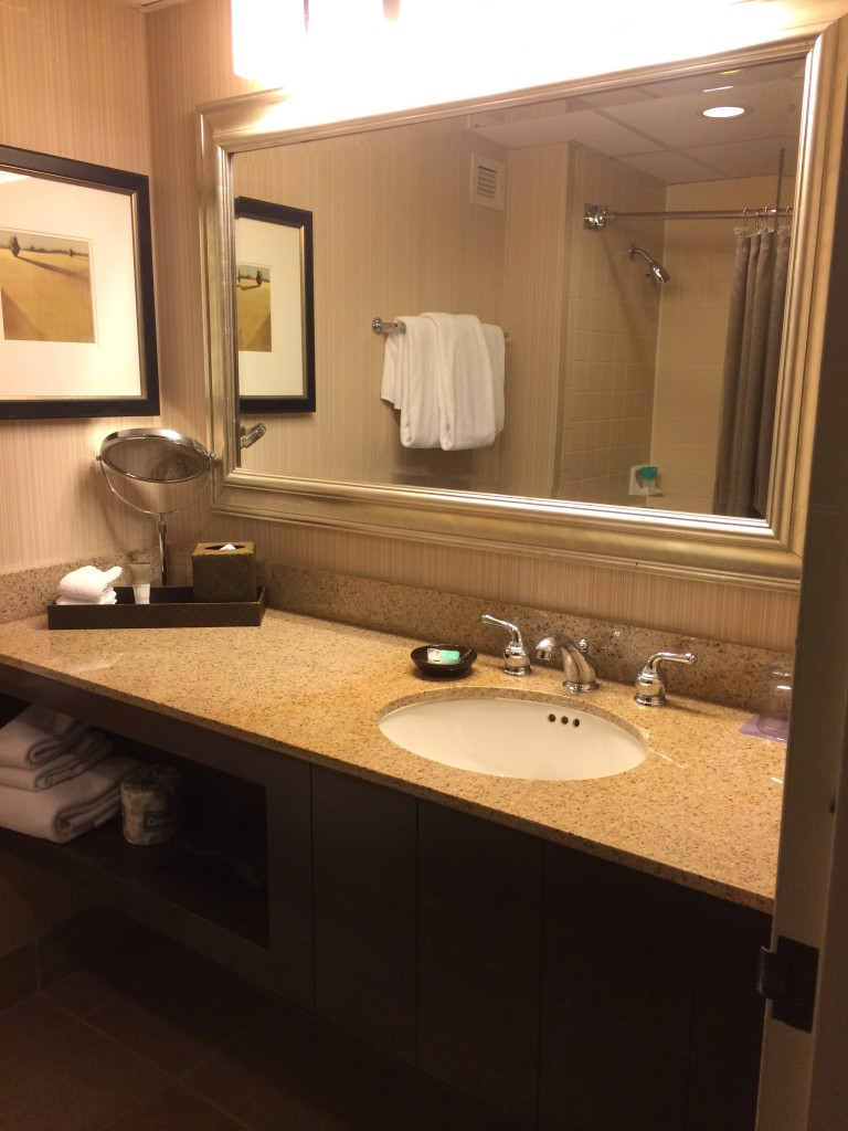Bathroom at the Hyatt Regency Austin