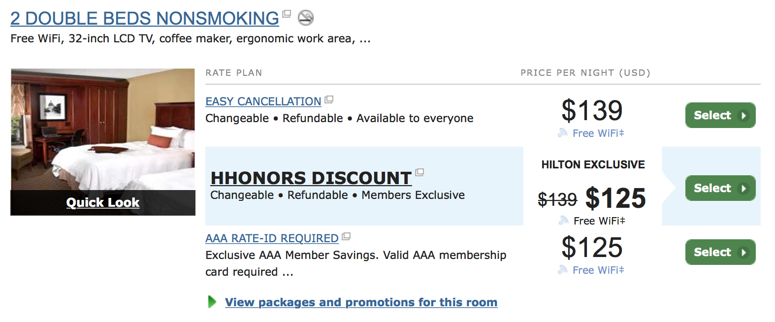 Screen shot of reservation compared to Stop Clicking Around discount.