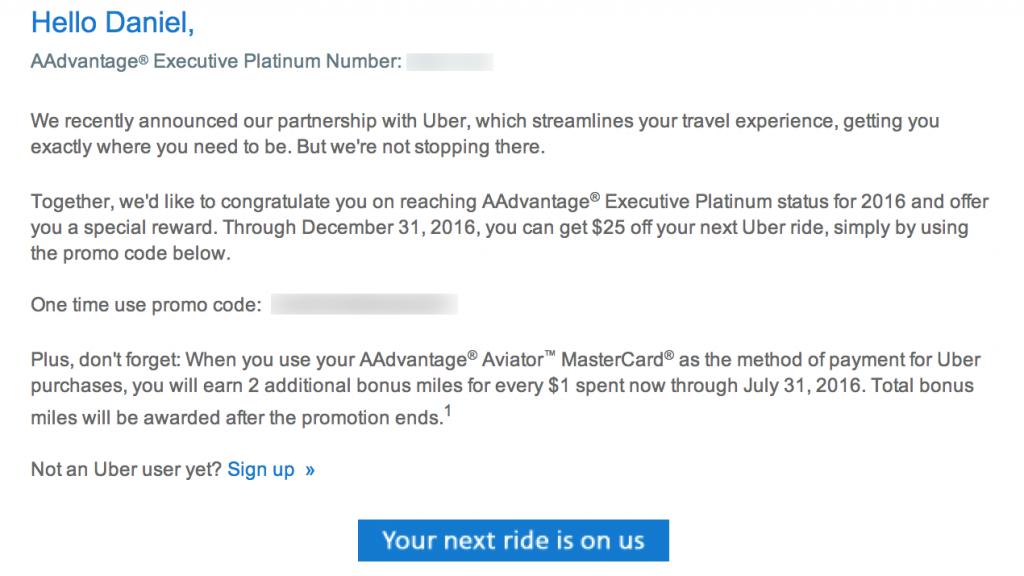 $25 Uber Credit