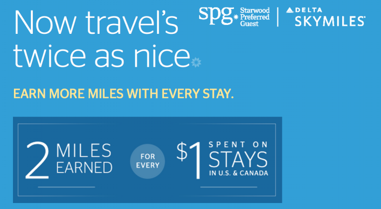 Starwood Preferred Guest and Delta Air Lines promotion Spring 2016