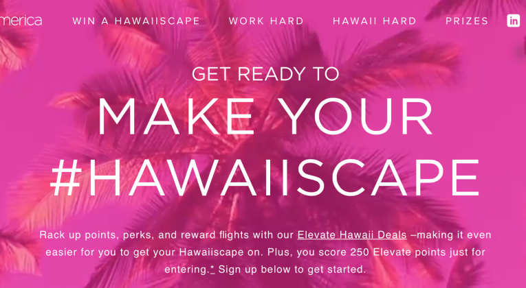 Virgin America Elevate sweepstakes — sring 2016