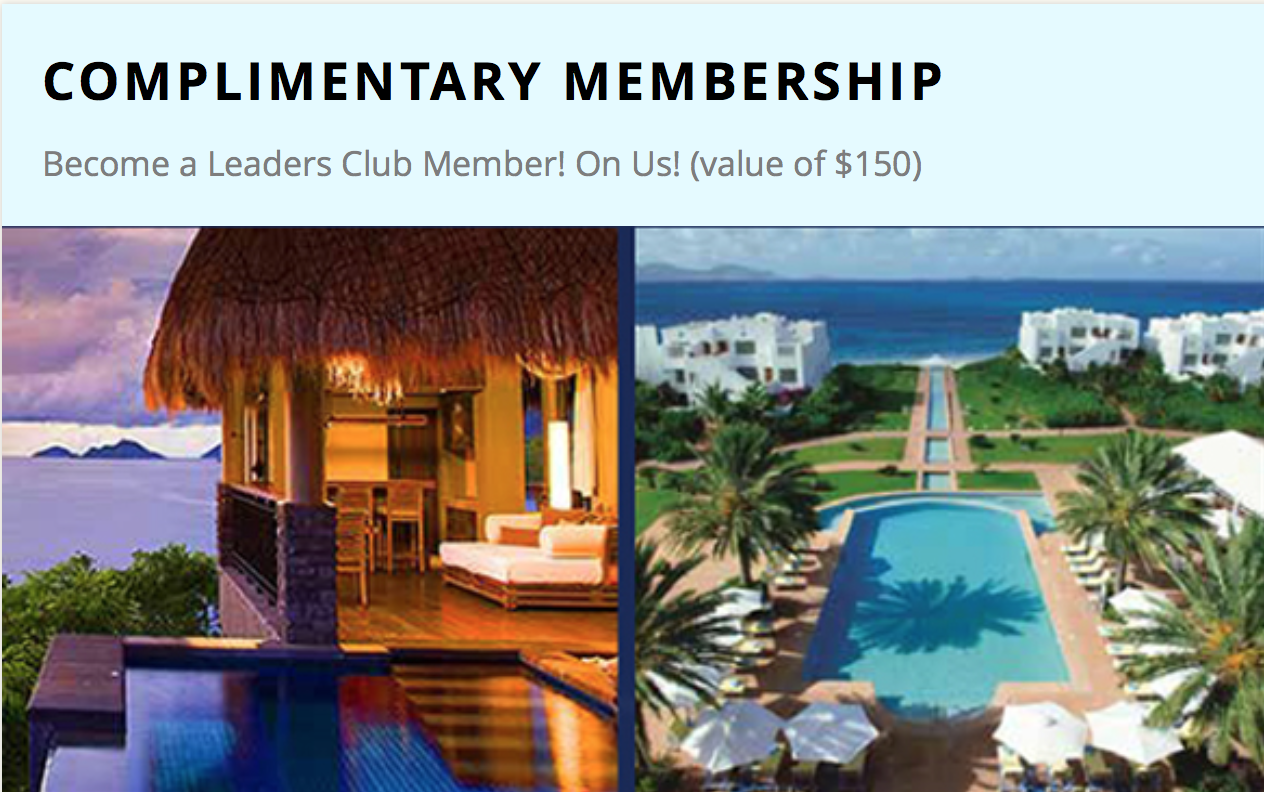 Complimentary Membership With Leading Hotels Of The World