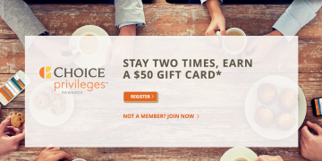 Stay Twice Get $50 gift card promotion — Summer 2016