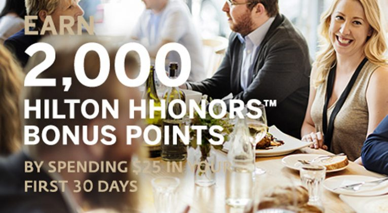 2,000 bonus points Hilton HHonors Dining