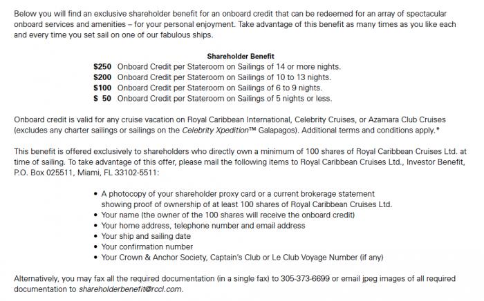 shipboard credit