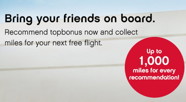 Refer a Friend 2016 earn up to 1,000 topbonus miles