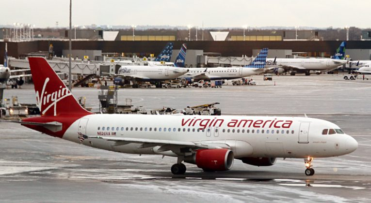 Virgin America airplane