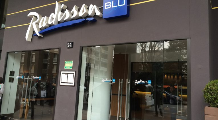 exterior of the Radisson Blu Milan. Debra Schroeder