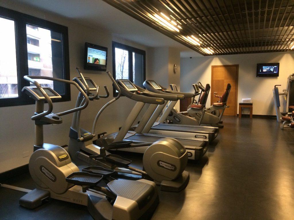 Radisson Blu Milan gym. Debra Schroeder