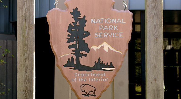 National Park Service wooden plaque