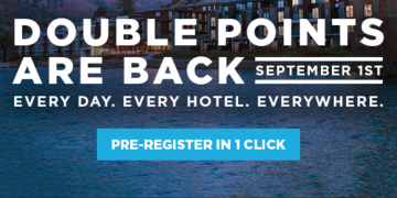 Hilton Double Points promotion extension 2016