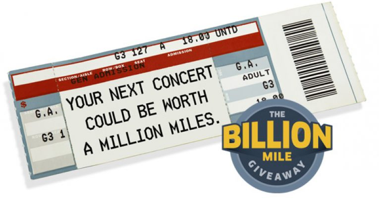 The Billion Mile Giveaway 2016