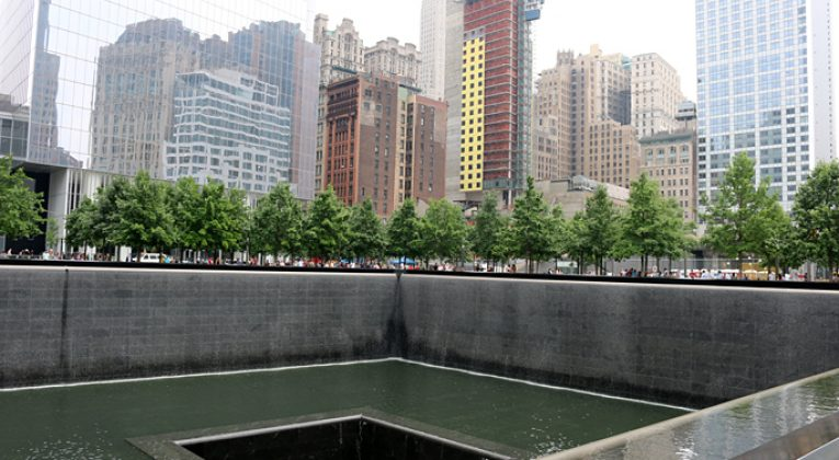 September 11 Memorial at World Trade Center in New York