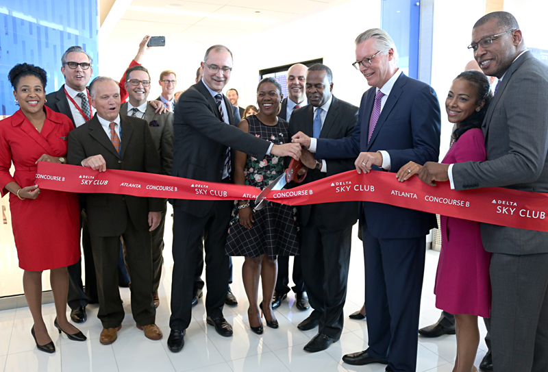 Delta Sky Club Concourse B Atlanta ribbon cutting