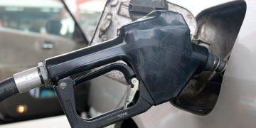 Gasoline fuel pump handle