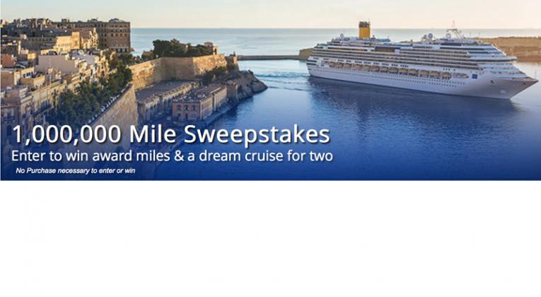 1,000,000 MileagePlus Miles sweepstakes