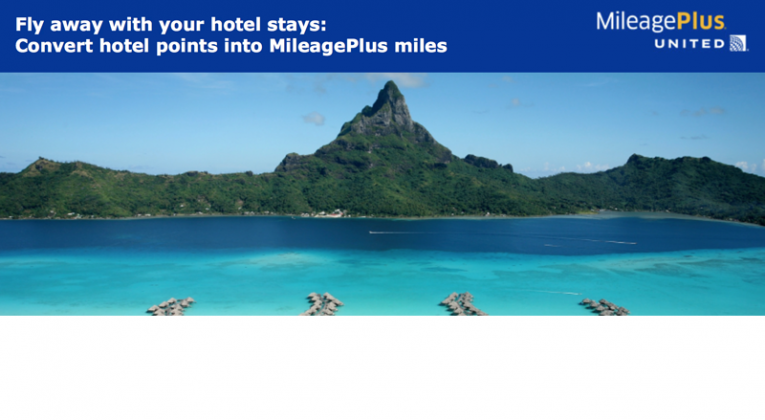 50 percent bonus on MileagePlus miles when converting from IHG Rewards Club points