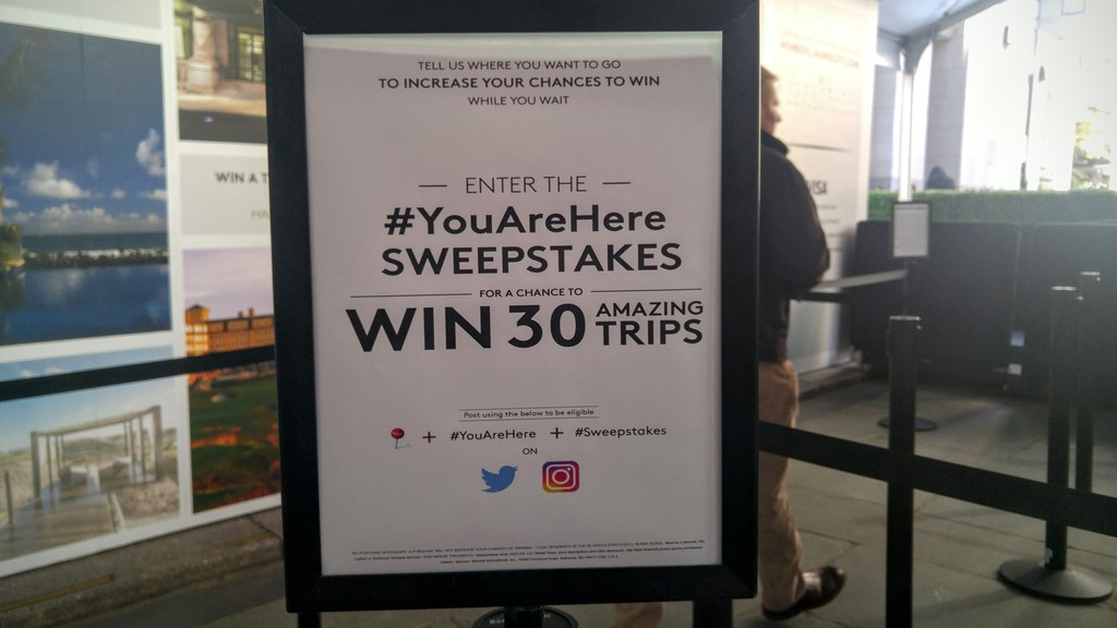 Marriott #You Are Here sweepstakes 2016