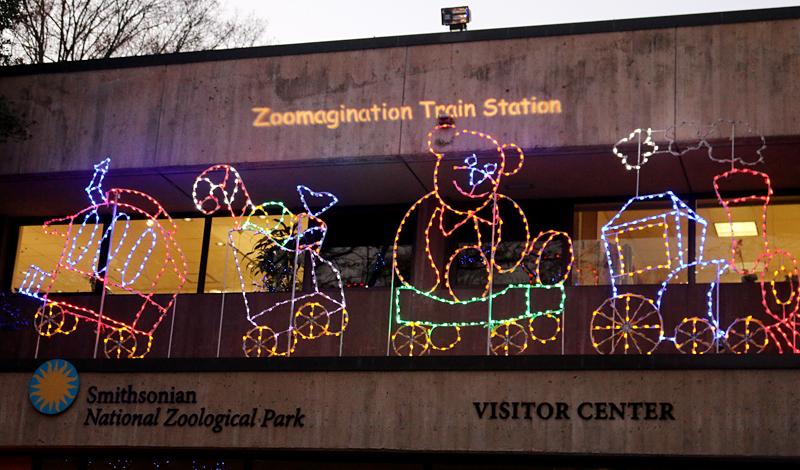 National Zoo Christmas lights Washington, D.C.