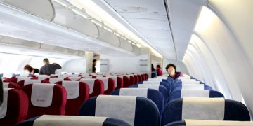 China Eastern Airlines economy class cabin