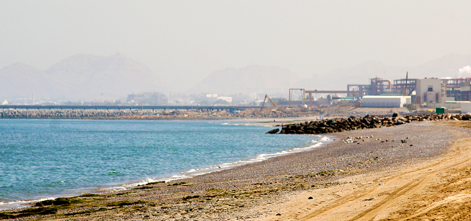 Shore of Muscat in Oman