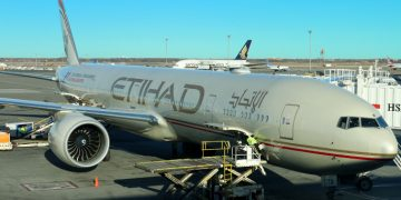 Etihad Airways Boeing 777-300 aircraft