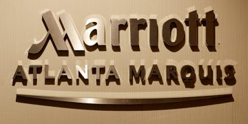 Marriott Atlanta Marquis sign
