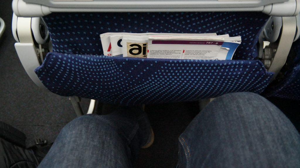 Aeromexico Economy Class legroom