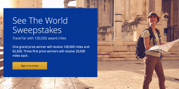 See the World Sweepstakes MIleagePlus