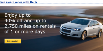 Hertz MileagePlus promotion 2016