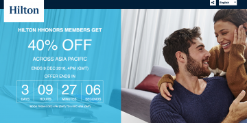 Hilton Asia Pacific Flash Sale December 2016