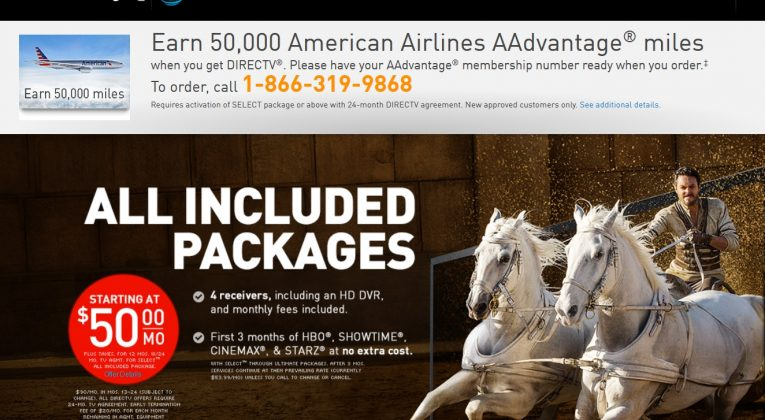 aadvantage members can earn 50 000 miles for directv service