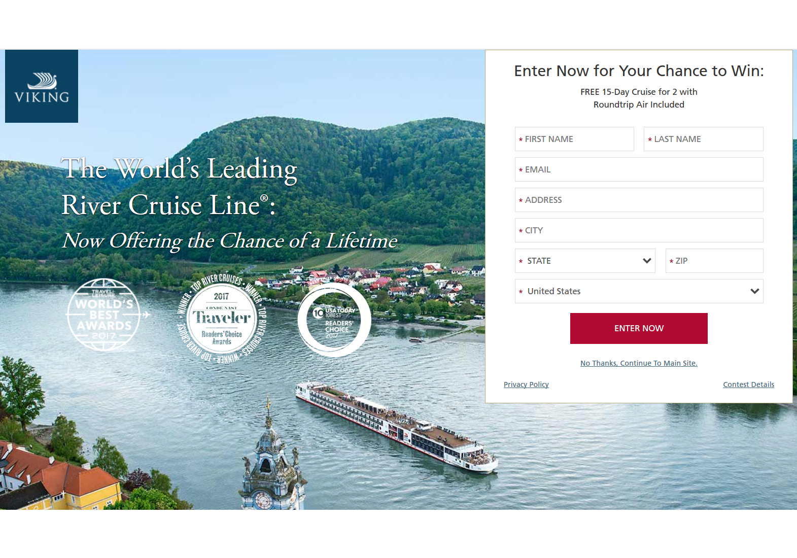 Featured Sweepstakes: Win a 15-Day European River Cruise - InsideFlyer