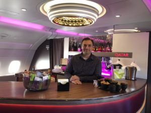 Qatar Airways Business Class A380 Cabin