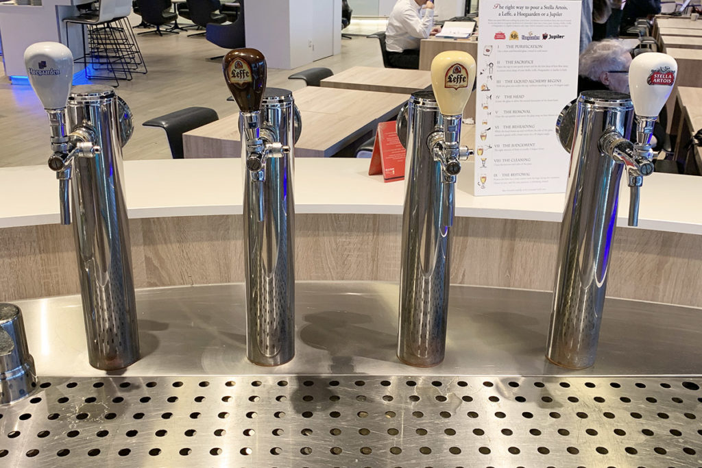 Four beers on tap